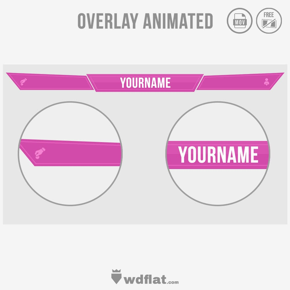 Animated Pink - overlay template gaming