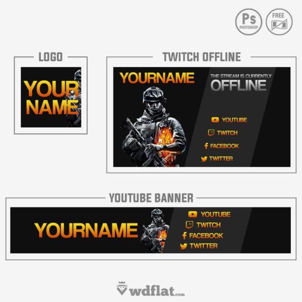 Battlefield – free banner youtube