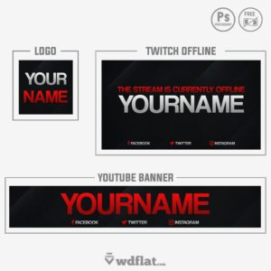 Twitch Overlay, Panels and Youtube Template | It's FREE!