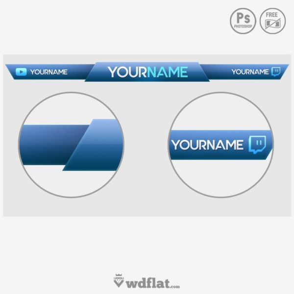 Blue Glossy – free overlay template