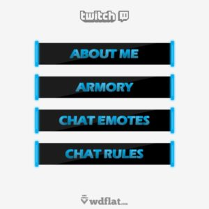 Blue-Neon - preview Twitch Panels