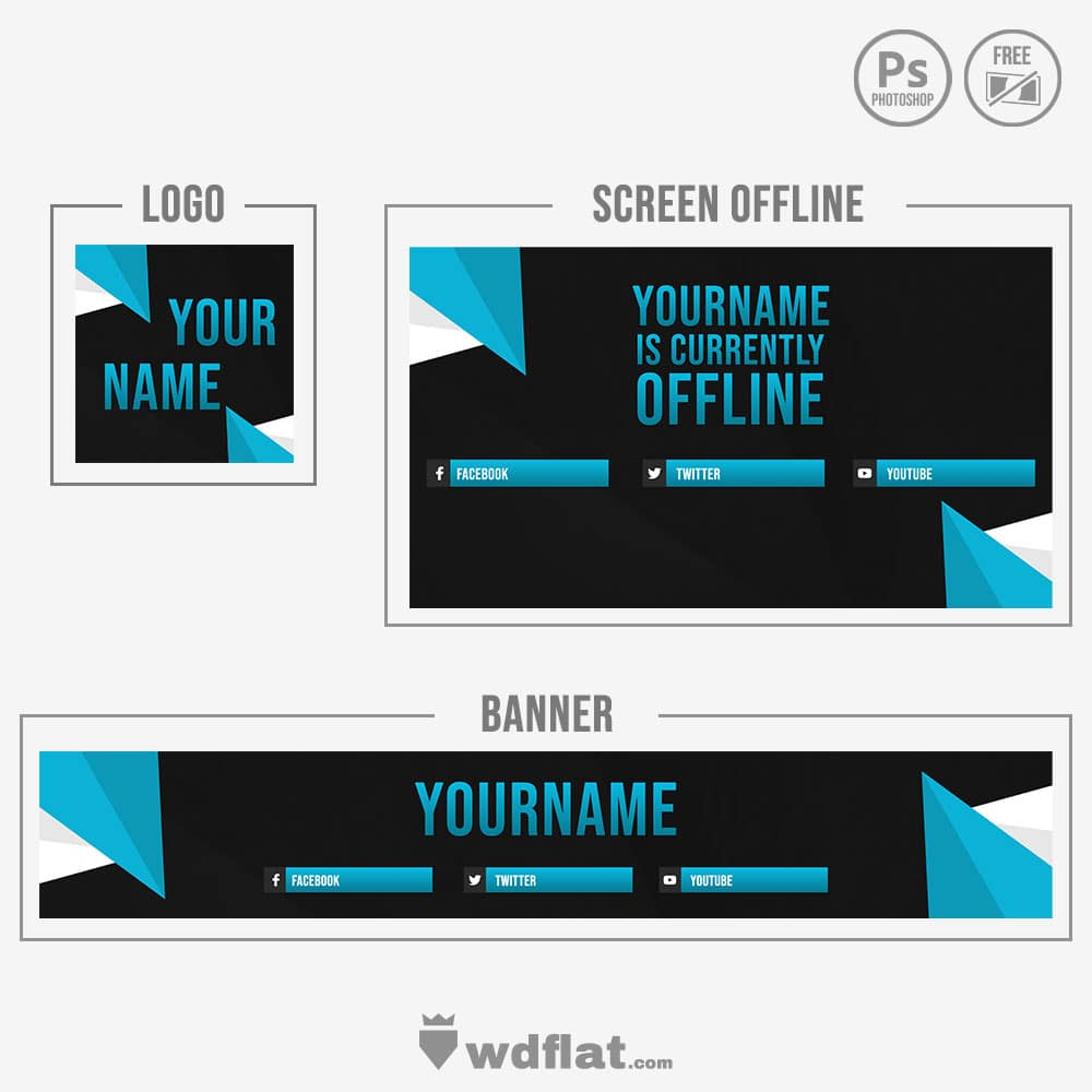 Blue Triangle - banner template free