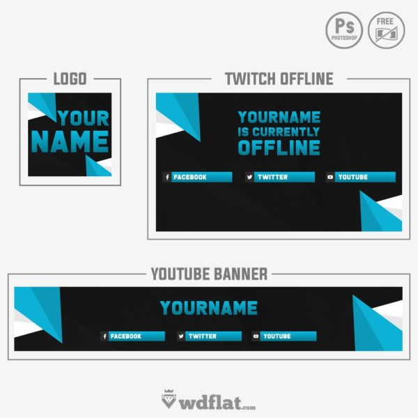 Blue Triangle – banner template free