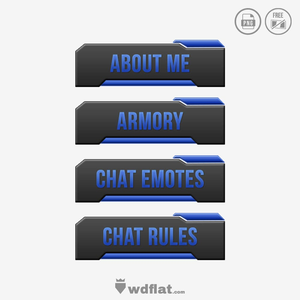 BlueCor twitch panels graphics