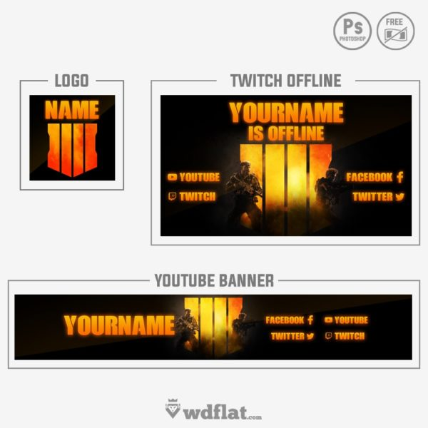 COD Black Ops 4 – youtube banner template