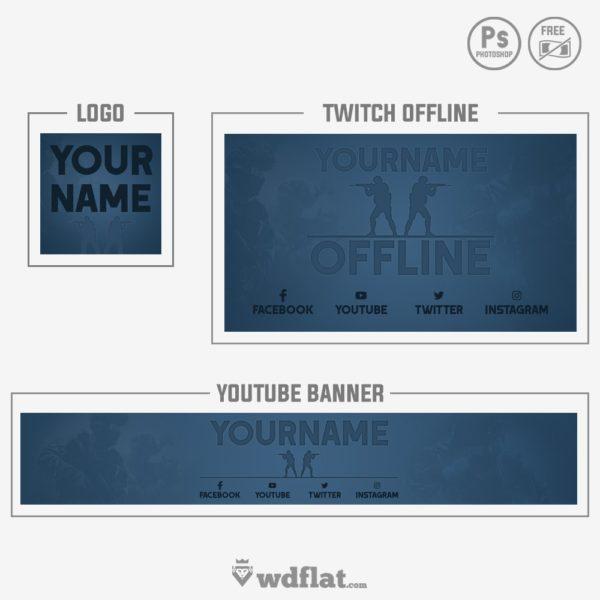 CS GO – Banner, Offline, Logo