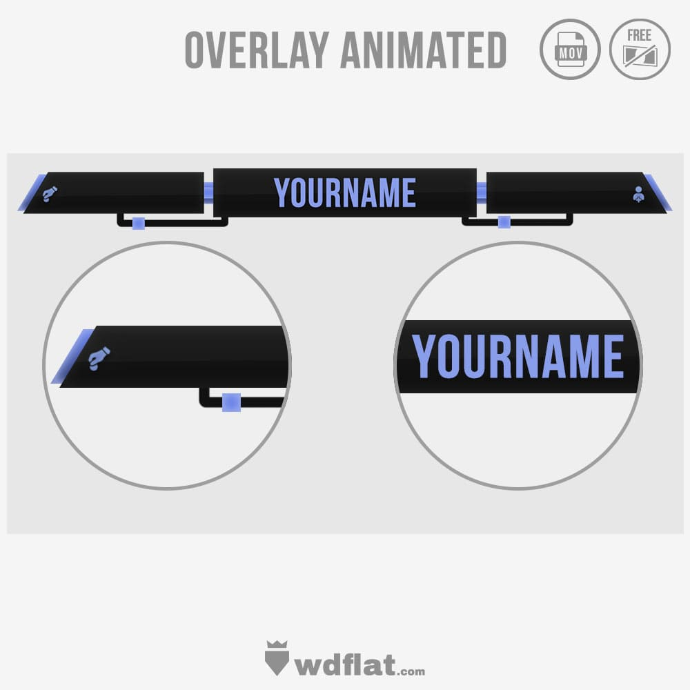 Cable Overlay - preview animated template