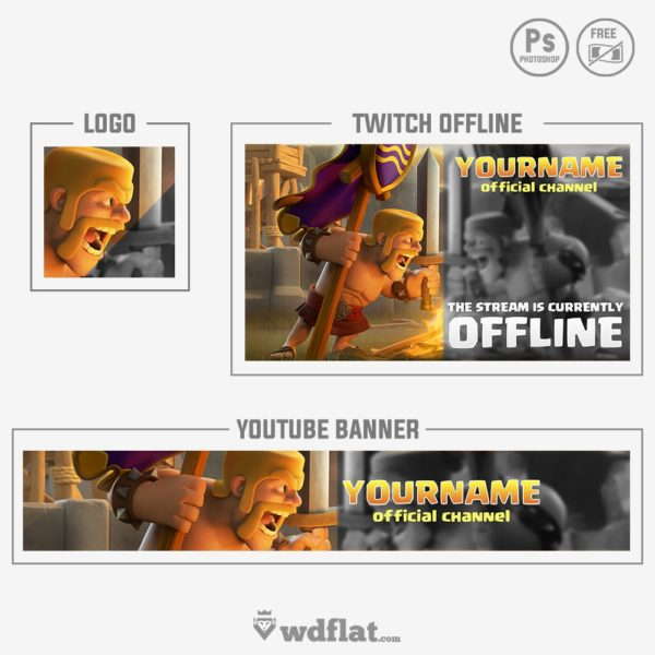 Clash Royale – Rebrand – preview banner youtube, logo