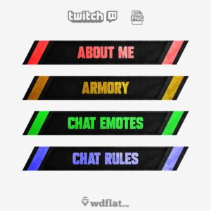 Color Metal - twitch panels