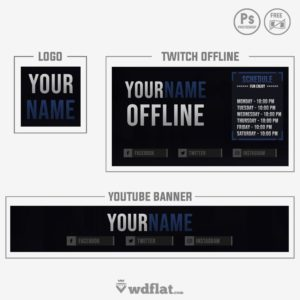 logo twitch youtube twitch and youtube templates
