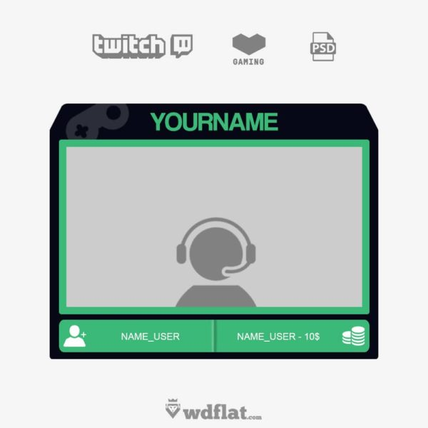 Cyanface CAM – preview Twitch Facecam