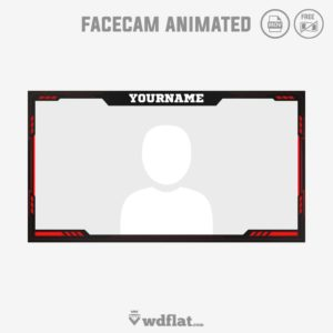 Cyborg Red - facecam border