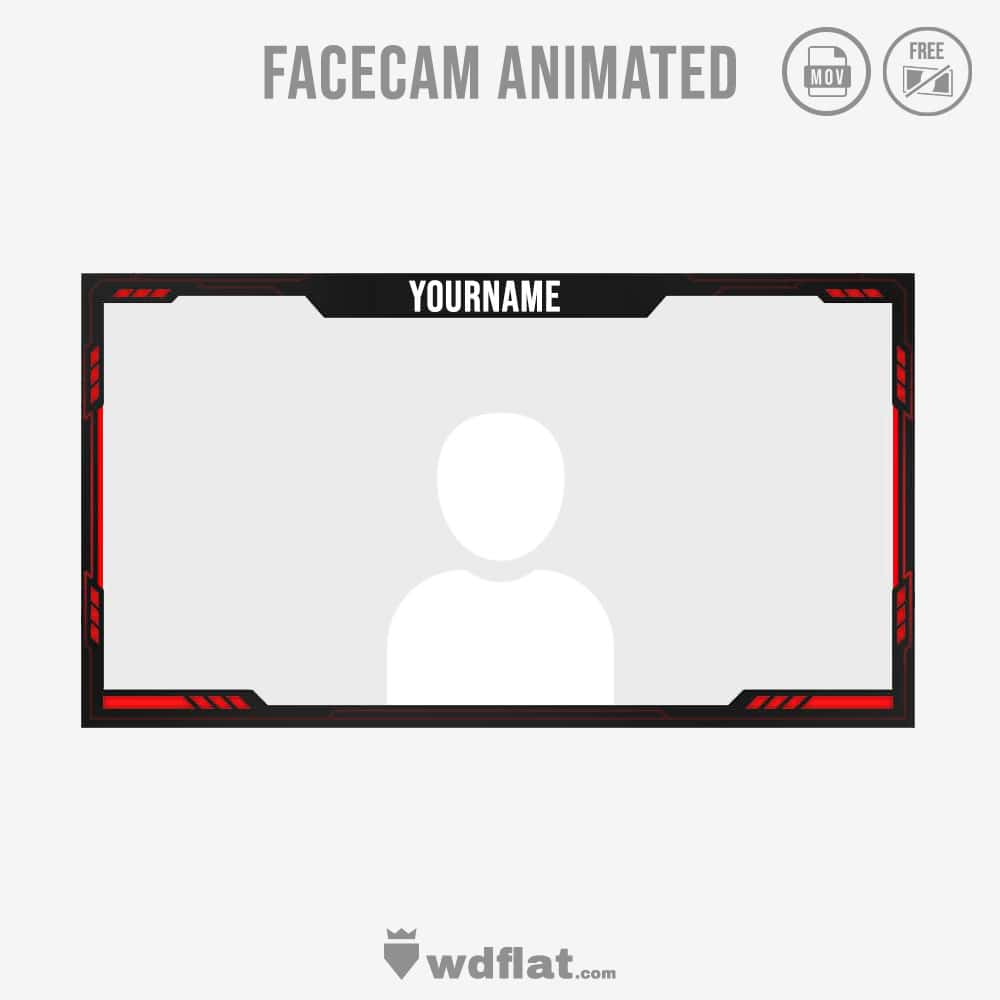 Cyborg Red - facecam border livestreaming