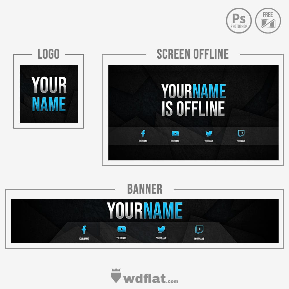 Demonized Brand _ preview template photoshop