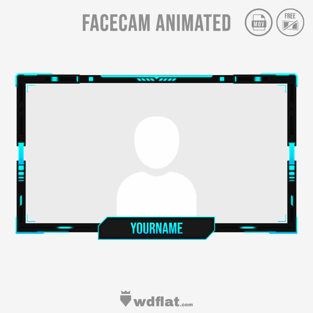 Engraved animated facecam template