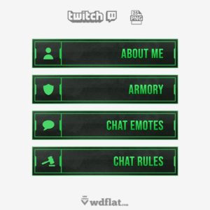 Enigma Green - free twitch panels