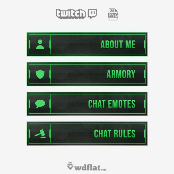 Enigma Green – free twitch panels