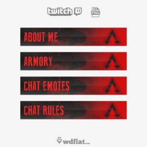 Eroded APEX - free twitch panels