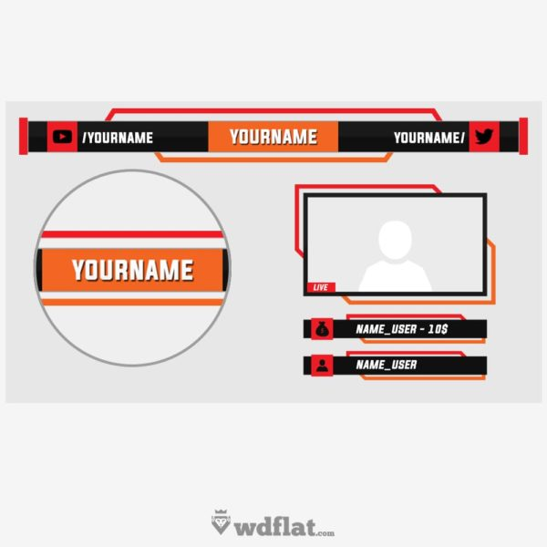 Evorek – preview Twitch Overlay Template
