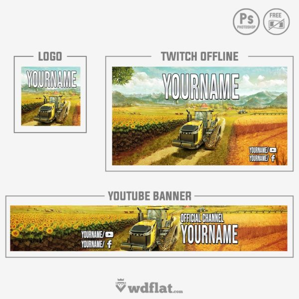 Farming Simulator 17 – preview banner and logo templates