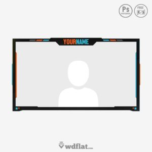 Flatcam - stream facecam template