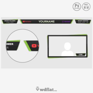 Flatty Overlay - free stream template