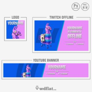 Fortnite Llama - youtube banner template