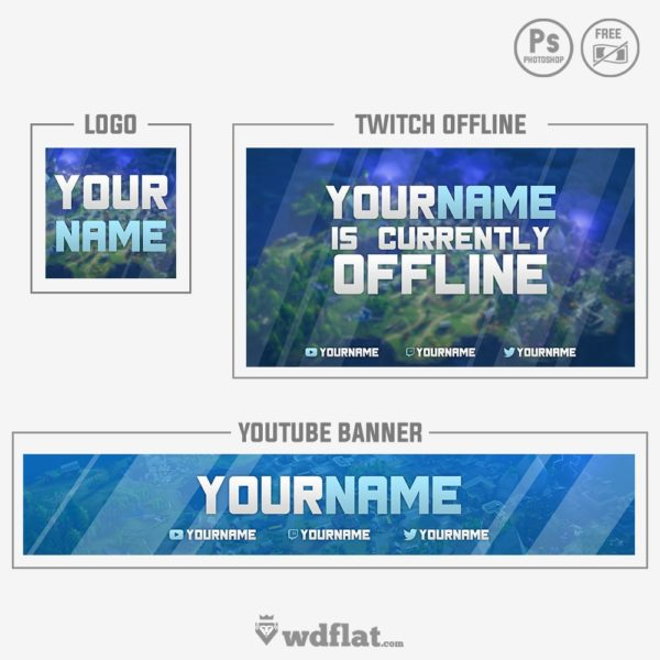 Fortnite (Rebrand) – blue banner and logo