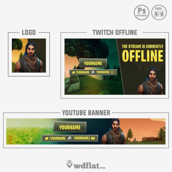 Fortnite Streamer – twitch youtube logo
