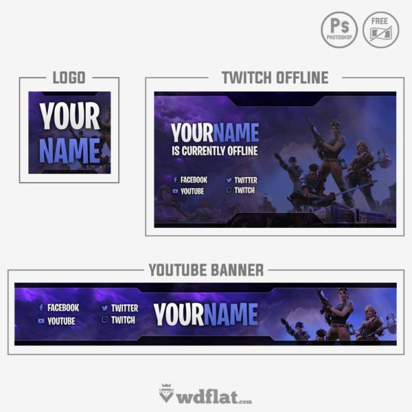 Fortnite – youtube banner template