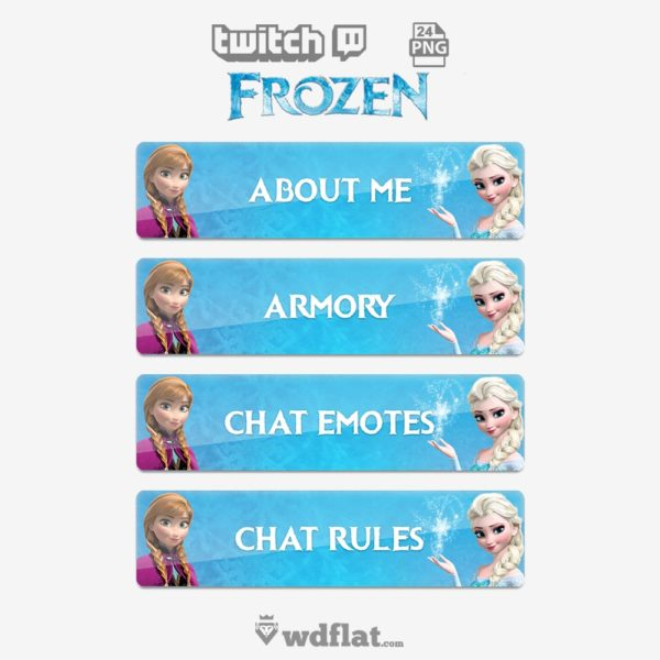 Frozen Edition – preview Twitch Panels Template