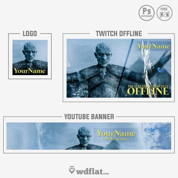 GOT White Walkers – preview logo and banner