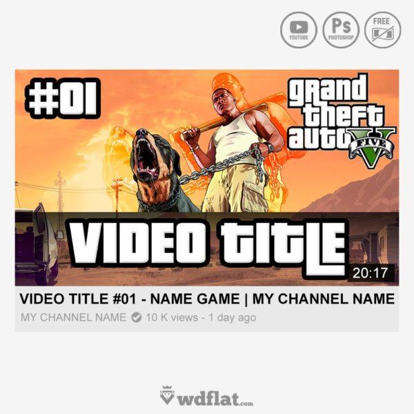 GTA V – Series – youtube thumbnail