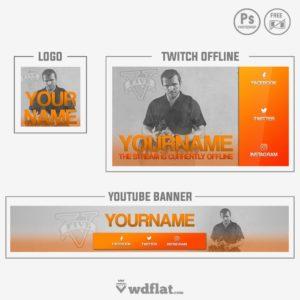 GTA V - youtube banner template