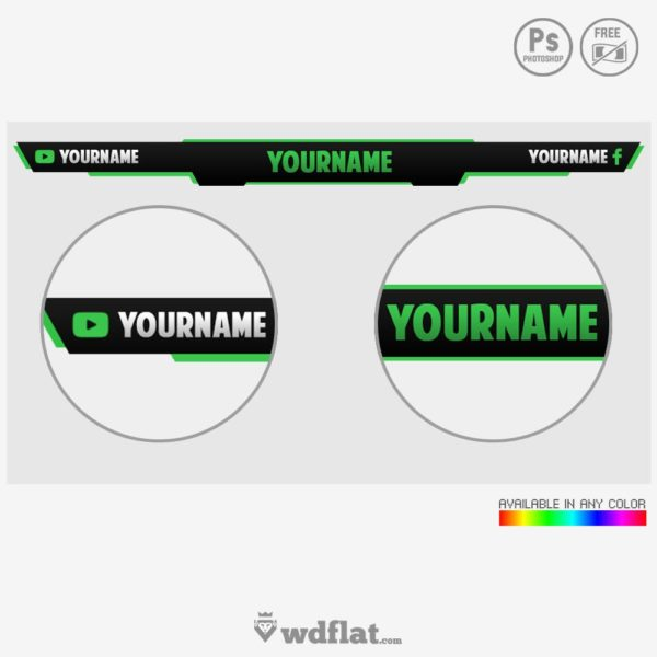 Game Overlay – template psd live