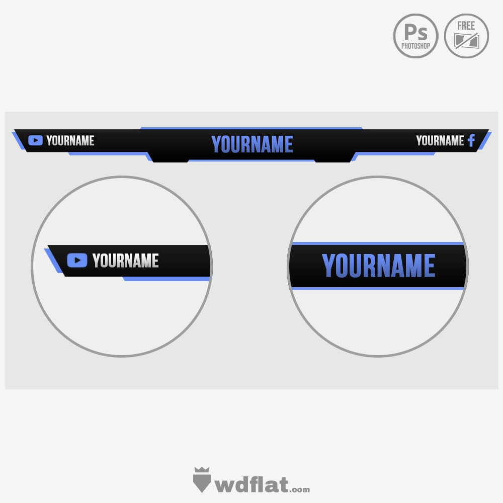 Game Overlay - template psd