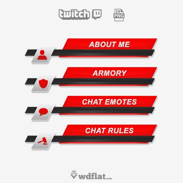 Geometric – preview Twitch Panels PNG
