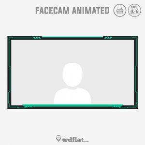Ghost Green - animated border webcam