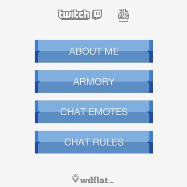 Glossy Simple – preview Twitch Panels