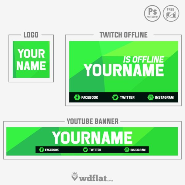 Green Corners – free youtube banner