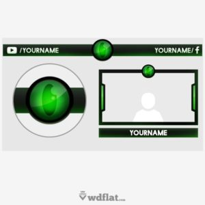 Green Eye - preview Template Overlay PSD
