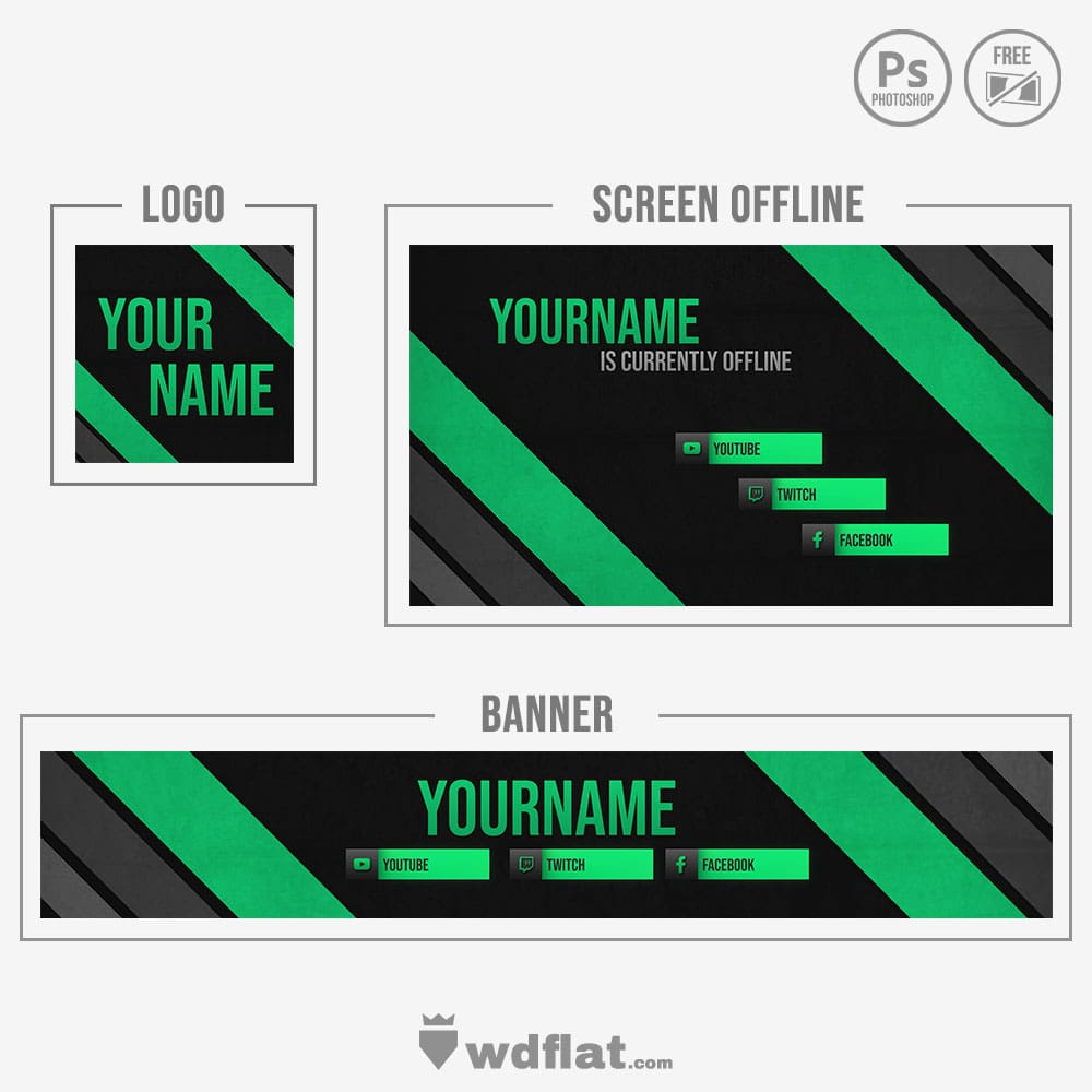 Green Line - youtube banner template