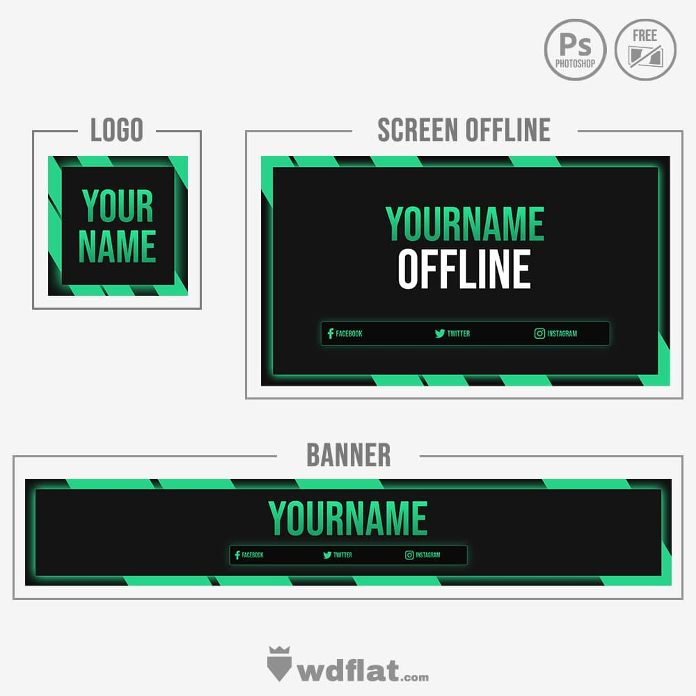 Green Outside - banner, offline and logo
