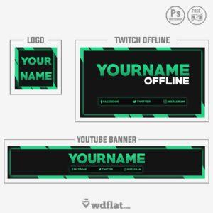 Green Outside - banner, offline and logo
