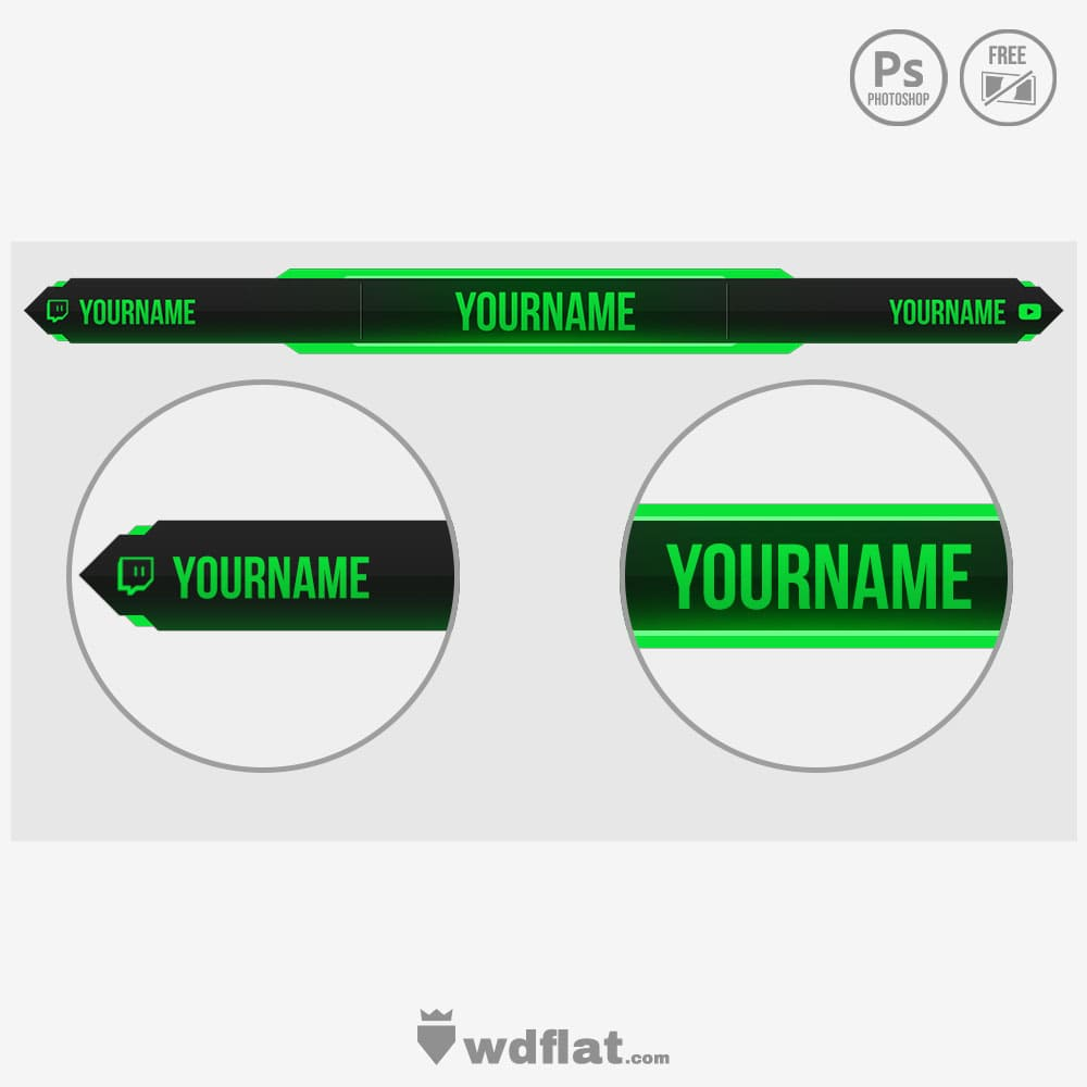 Greenish-Overlay template psd