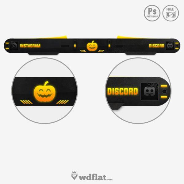 Halloween Overlay – free template