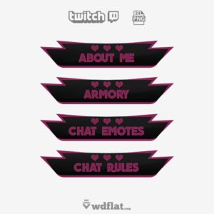 Heart Neon - free twitch panels