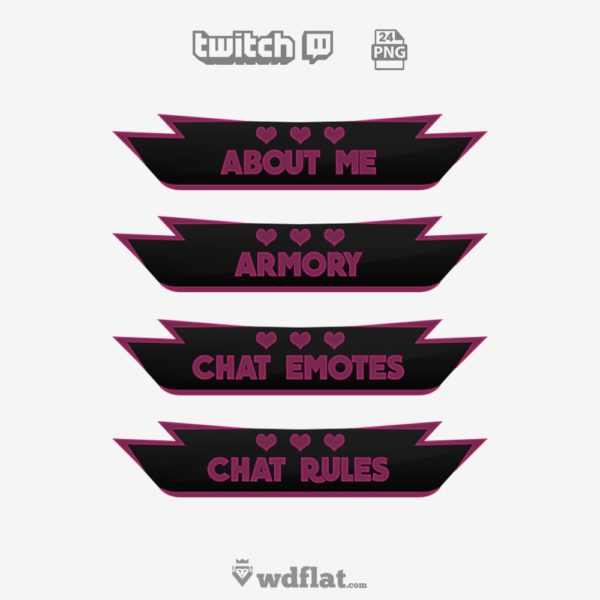 Heart Neon – free twitch panels