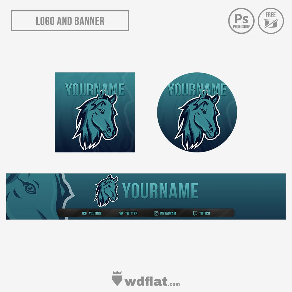 Horse-Esports stream banner logo