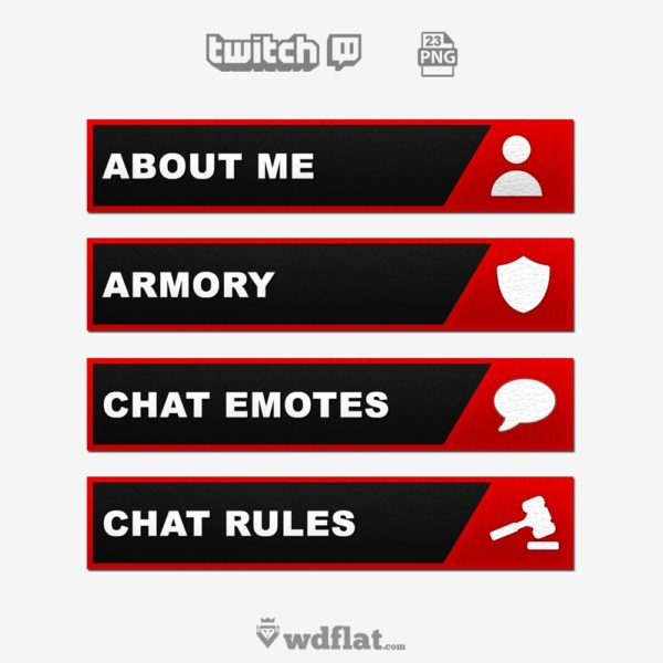 Leather Panels – preview Twitch Template